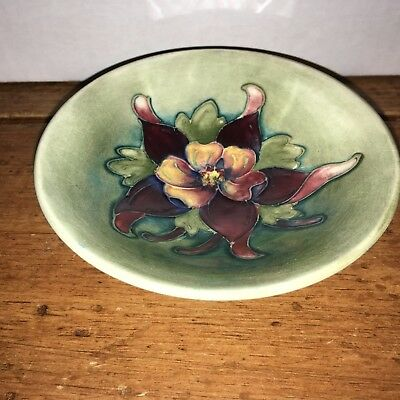 Moorcroft, Orchid Pattern, Made in England, Pin Plate