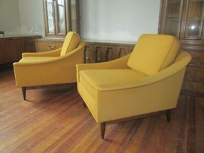 Pair of Folke Ohlsson-Style Mid-Century Lounge Chairs
