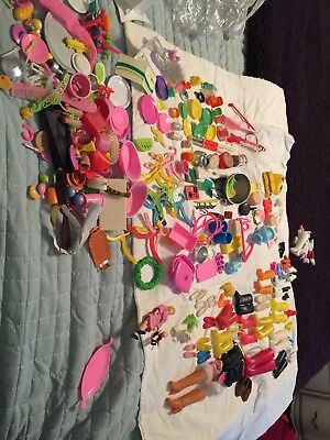 Huge Lot Of Barbie Or Other Doll Vintage Accessories Including Shoes Purses 330+
