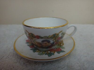 Sutherland English Bone China Miniature Cup & Saucer  HRH Prince Andrew & Sarah