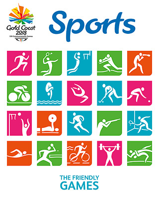 Australia - 2018 - Sports Gold Coast Commonwealth Games Sheetlet Stamp Pack