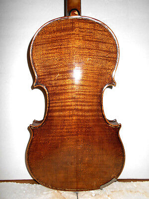 "Antique Old Vintage ""Bapt Grancino"" 2 Pc Back Full Size Violin - No Reserve"