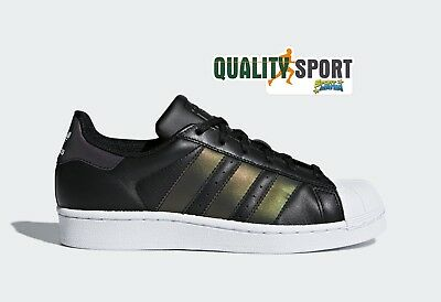newest dbefb 77279 Adidas Superstar Nero Xeno Cangiante Scarpe Shoes Sportive Sneakers CQ2688