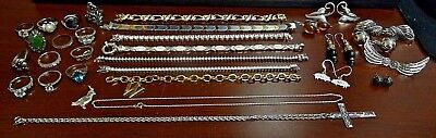 Mixed Lot of Sterling Silver Jewelry.  Not Scrap