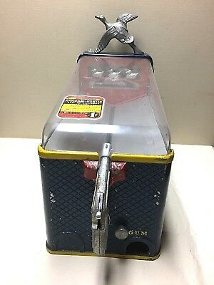 Vintage Duck Hunter Shooting Arcade Game With Gumball Vending Machine