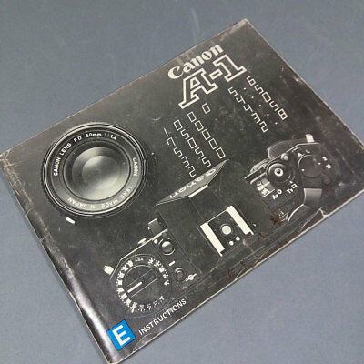 Canon A-1 Manual Instrucciones en Inglés English EN Instructions