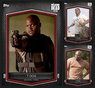 T-Dog-Lunar New Year Of The Dog-3 Card Set-Series 3-Topps Walking Dead Trader