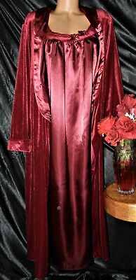 Nightgown,Peignoir Set. 1X ,NWOT/Vintage? Lane Bryant. Dark Red and Wonderful!