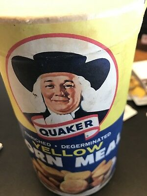 vintage unopened Quaker Oats yellow Corn Meal