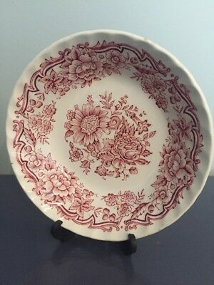 Vintage Ridgway Ironstone Staffordshire Red Pattern Clifton Small Sauce Bowl