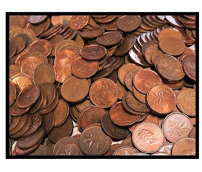 Lot of 1000 Canadian Elizabeth Small Cents