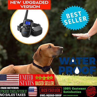 Dog Training Shock Collar With Remote Control Waterproof Electronic Vibration