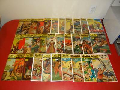 Vintage 1950's-1960's Classics Illustrated Comic Books LOT OF 32 SA2908