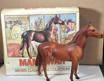 Breyer Classic Man O War 1975 Race Horse Collection Series with Picture Box #602