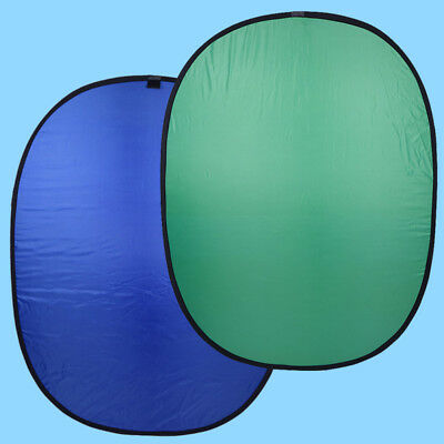 Portable Collapsible Screen Background Reversible Panel 150×200cm Blue And Green