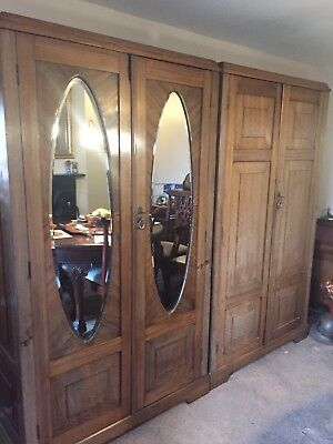 Pair Of Antique Georgian Wardrobes Very Rare