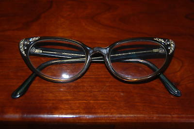 Vintage Ladies 1950's 60's Comet Cats Eye Glasses Real Hipster Chick