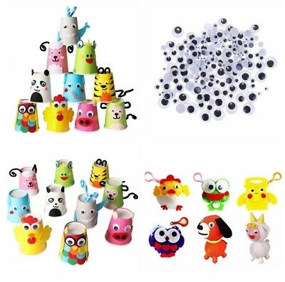100pcs Plastic Craft Wiggly Googly Eyes 8mm