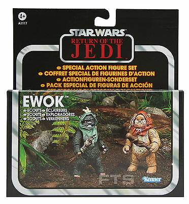 Star Wars  Endor Ewok Scouts  Set mit Wunka & Warrick Hasbro