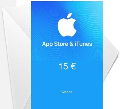 Buono Card 15€ App Store Ibook Store Itunes Store Apple Music Netflix Voucher