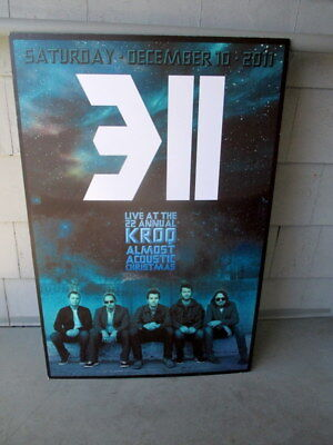 311 Rock Bank 2011 22Nd Annual Kroq Almost Acoustic Christmas Hard Board Poster