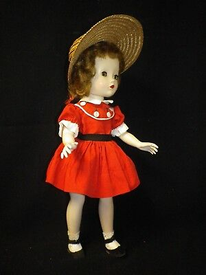 "14"" Vintage Madame alexander Hard Plastic Walker Doll All Original"