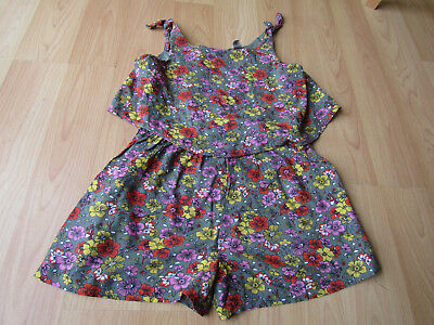 Girl Floral Spring Summer Playsuit Jumpsuit 7 Years Vgc