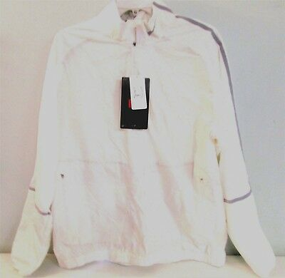 5be486c40 NIKE Golf White Windwear Large Mens Jacket Coupe Vent Half Zip 582787 []