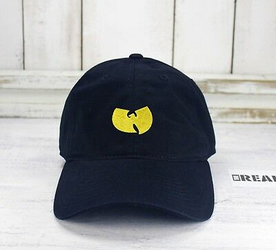 9784d377945 WU TANG Logo Dad Hat Embroidered Baseball Cap Curved Bill CLASSIC HIP HOP
