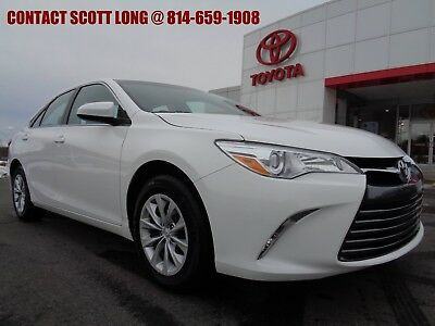 2016 Toyota Camry 2016 LE Camry Sedan White Toyota Certified 2016 Camry LE Super White 30K Miles Warranty Included Carfax