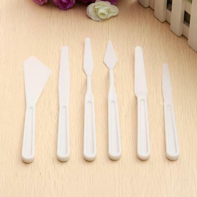 6 Pcs New Oil Painting Plastic Spatula Palette Cutter Set Kits for Art Craft ~