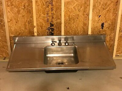 Stainless Steal Kitchen Sink w/ Double Drain Boards