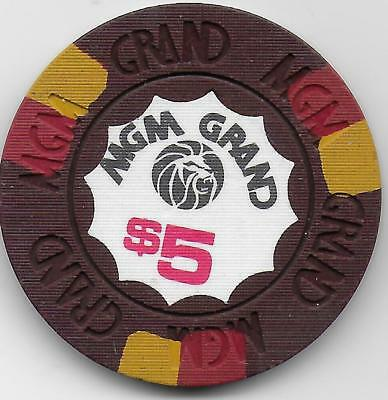 House Mold $5 Casino Chip From MGM GRAND-Las Vegas,  Nevada-CG032054 N4600