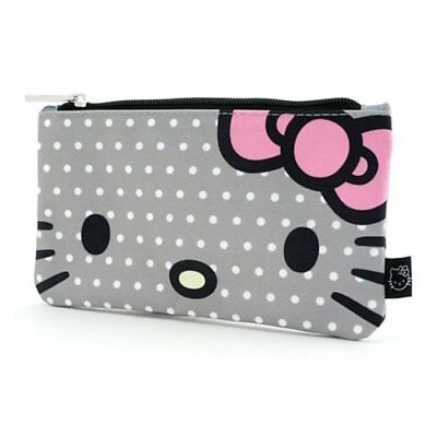 LOUNGEFLY NEW Hello Kitty Polka Dot Travel Cosmetic Bag Pencil Case Coin Bag
