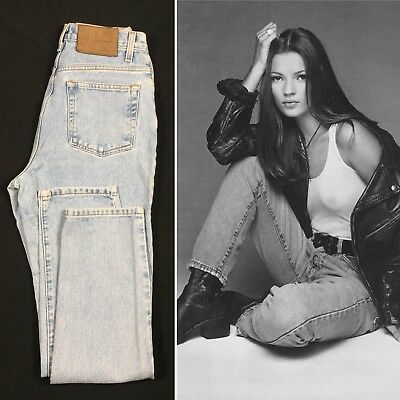 Vintage 90's Calvin Klein Womens Size 8 Classic High Waist Mom Jeans Enzyme Wash