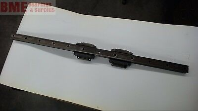 "Linear Rail W/ 2 Thk Hsr45 Bearings 47-1/4"" / 1196 Mm Long,  1.750"" / 44 Mm Wide"