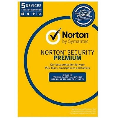 Norton Symantec Security Premium 5 Device 1 Year license key