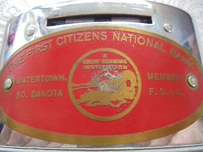 Vintage Advertising Coin Bank From Watertown South Dakota-First Citizens Bank