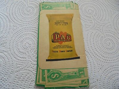 Vintage Pfister Hybrids Seed Corn Advertising Needle Pack With Seed Corn Sack
