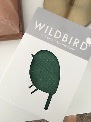 "WILDBIRD RING SLING in green ""jacamar"" rose gold ring"