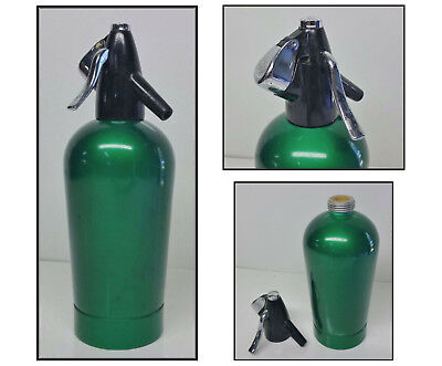 Retro Vintage Emerald Green Soda Syphon / Siphon Anodised Sparklets England.