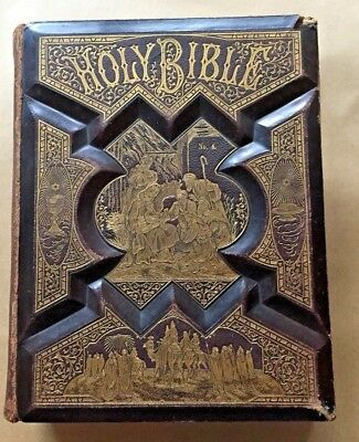 RARE Antique Family Bible Salesman Sample Book Late 1800's early 1900's.