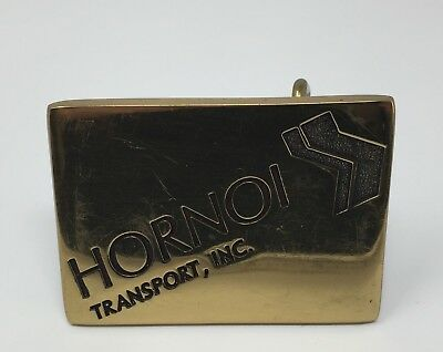 1976 Hornoi Transport Solid Brass Made in USA by BTS Belt Buckle