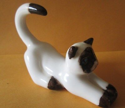 Vintage Bone China Cat Figurine Ring Napkin Ring Holder ?