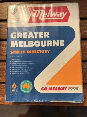 MELWAY~ GREATER MELBOURNE STREET DIRECTORY , EDITION 23, 1995- Great Condition