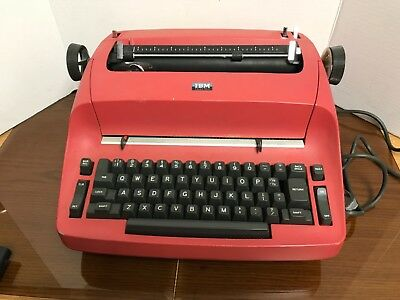 *IBM Antique Selectric Red Vintage 1960s Typewriter - works / needs TLC