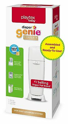 Playtex Complete Assembled Diaper Pail w/ Odor Lock Technology 1 Refill White