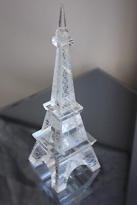 Crystal Glass Eiffel Tower Decor Gift with gift box