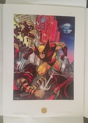 Jim Lee Wolverine Punisher SIGNED Bad Night for the Ninjas matching print /2500