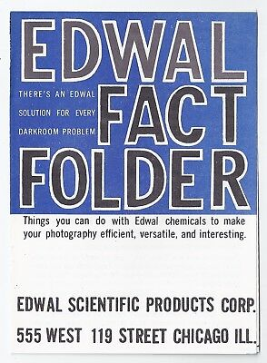 Edwal Scientific products, Chicago - photo-finishing chemicals 1960s